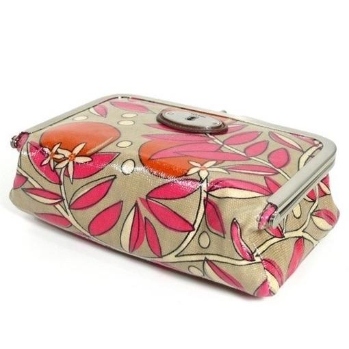 fossil key per pink floral sl3073 843 kosmetiktasche mit spiegel schminktasche ebay. Black Bedroom Furniture Sets. Home Design Ideas